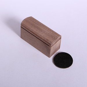 large walnut neatcatch with black leather disc